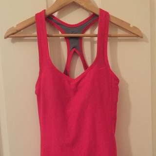 Nike Dri-Fit Womens Pink Sports Tank Top Size S 8