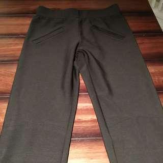 Black Ankle Zip Pants