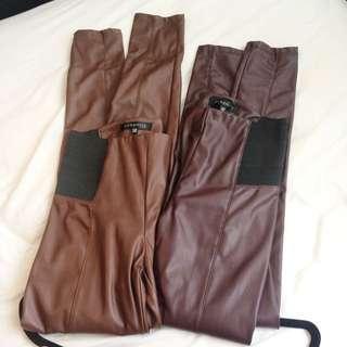 Dynamite Faux Leather Leggings - each $10