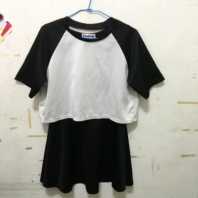 黑白色兩件式裙裝🎀💕