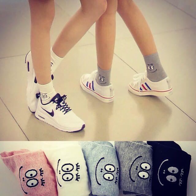 韓國 泡泡先生系列 中筒襪 兩雙特價$120