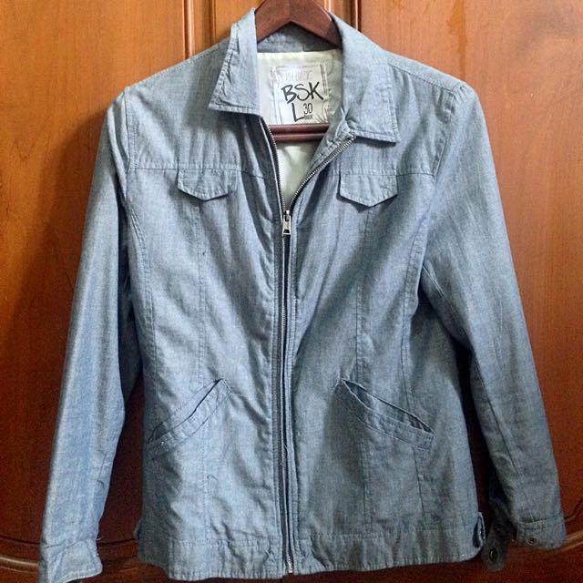 Bershka Jacket In Blue