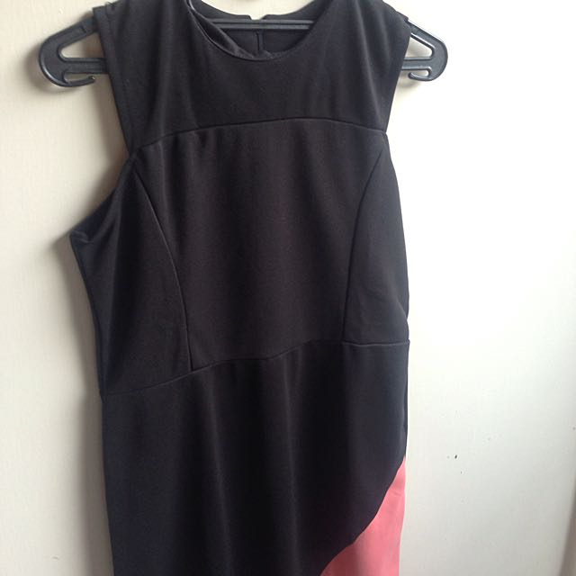 New!! Black And Pink Dress