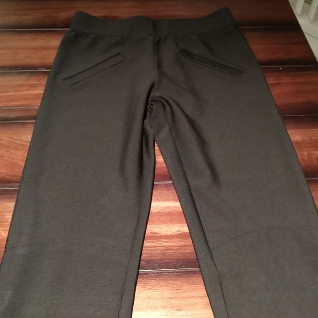 Black Ankle Zip Pants