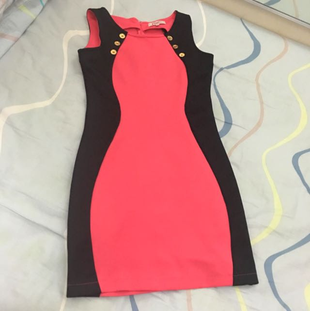 Candie's Black And Pink Dress
