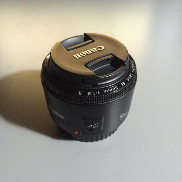 Canon EF 50mm F/1.8 II Prime Lens