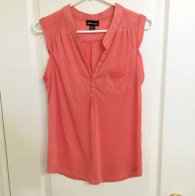 Coral Sleeveless Shirt XS/S