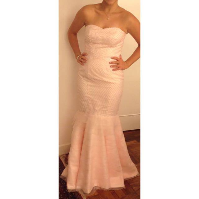 Custom Made Strapless Fishtail Dress