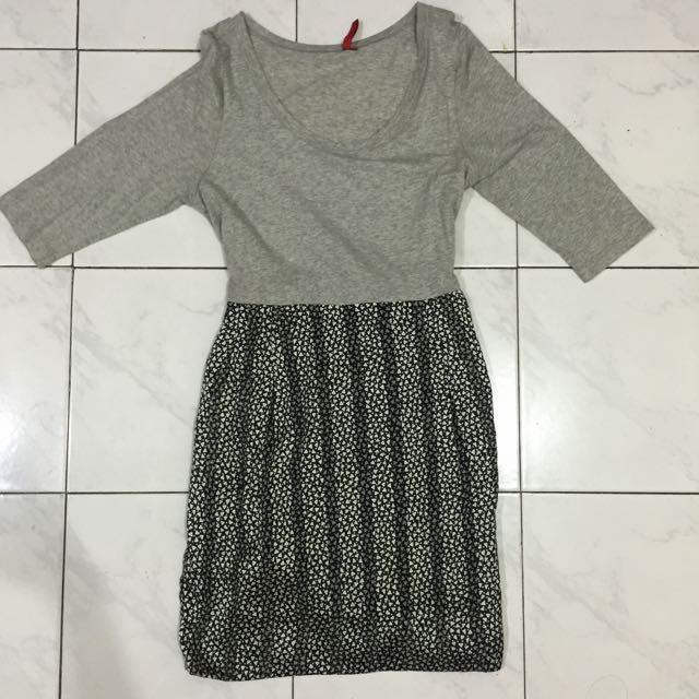 Dress lengan 3/4 ELLE