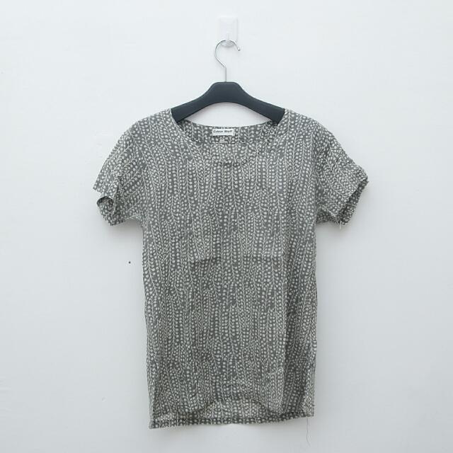 Grey Pattern Top