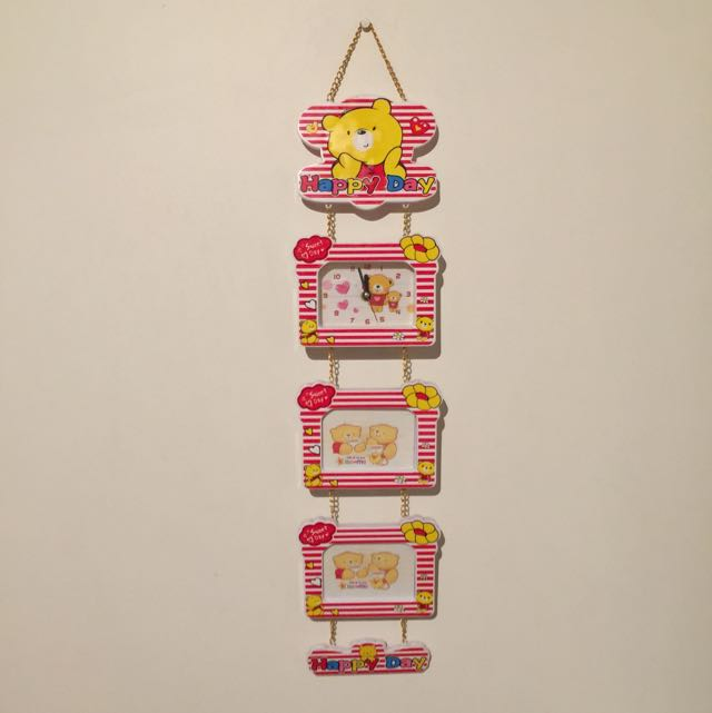 Hanging Clock And Picture Frame