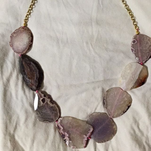 Kenneth Jay Lane Purple Stone Necklace
