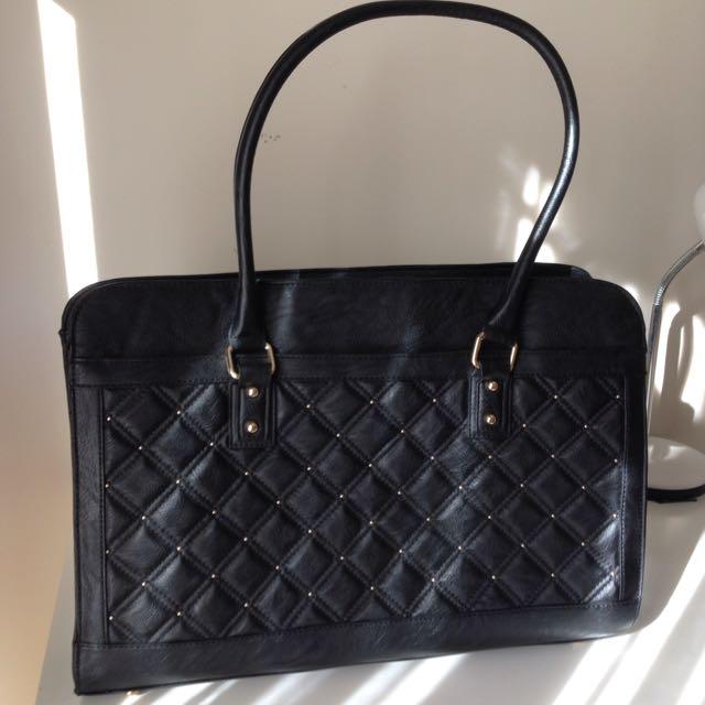 Laura Jones black work bag