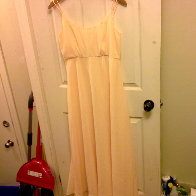 Light yellow Empire Dress
