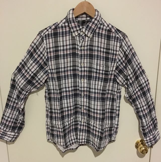Muji Cotton Size M Checkered Shirt