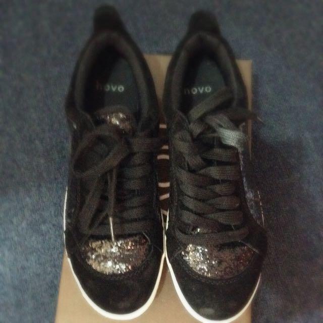 Novo Black Glitter Sneakers