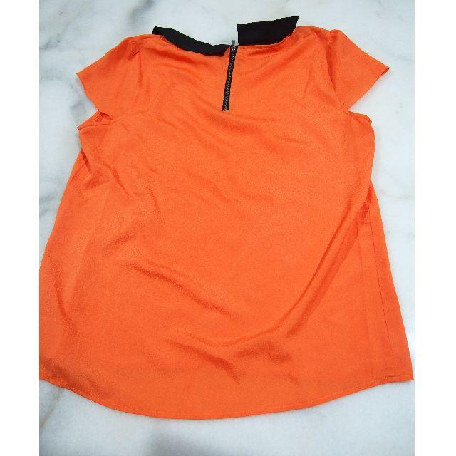 Orange Peterpan Collar Top Size L