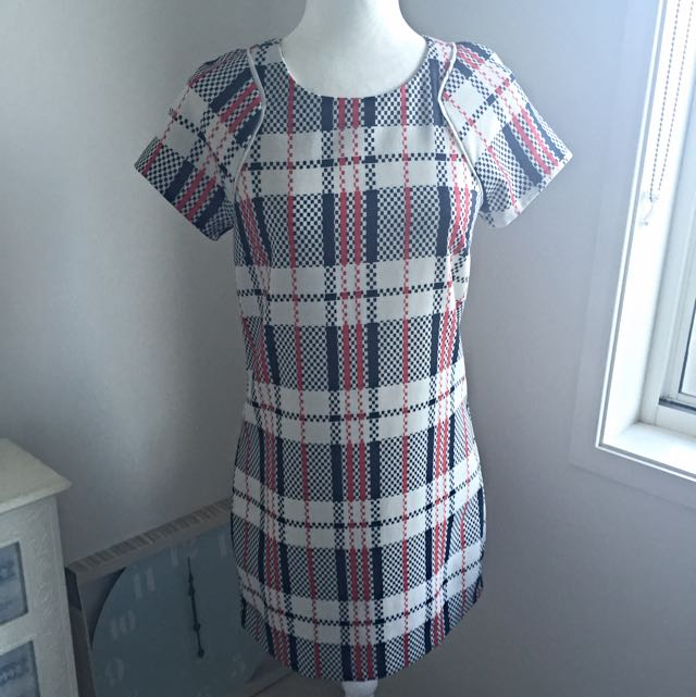 Plaid Pattern Dotti Dress