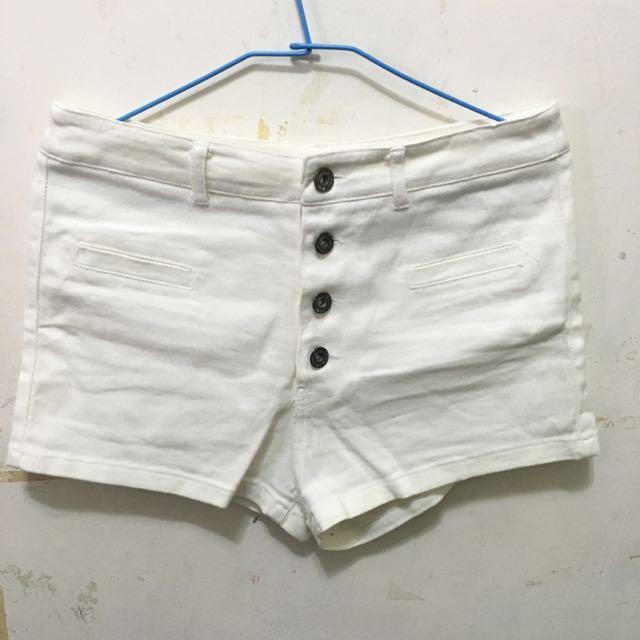 M號 Queen punch白色短褲👑