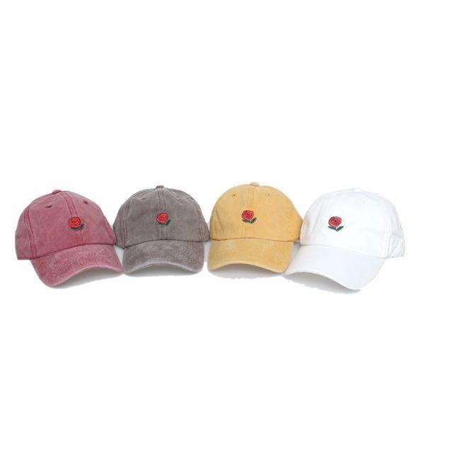 玫瑰刺繡ROSE第二彈刷色版 復古鴨舌帽