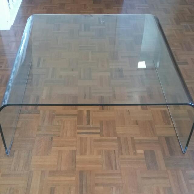SICA Italian Glass Coffee Table