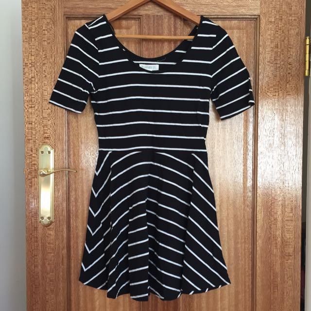 Stripy Skater Dress