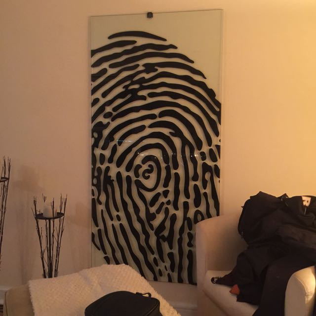 Table Top Converted Into Wall Art