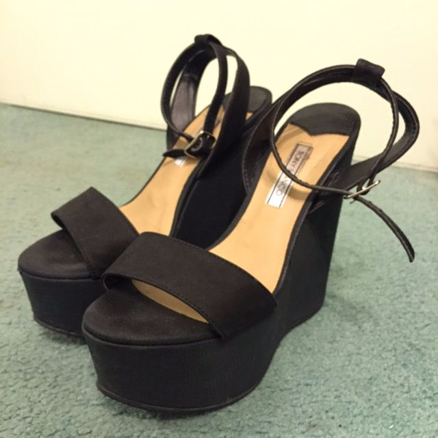 Tony Bianco Black Wedge Heels