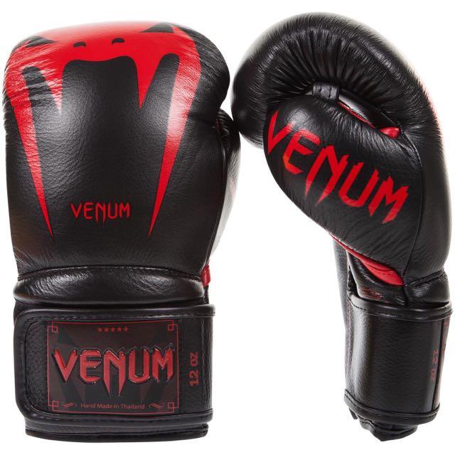 VENUM - Giant 3.0 Boxing Gloves (黑紅)拳擊手套 蟒蛇