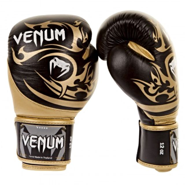 VENUM - Tribal Boxing Gloves  -  Nappa  Leather  (黑金)拳擊手套 蟒蛇