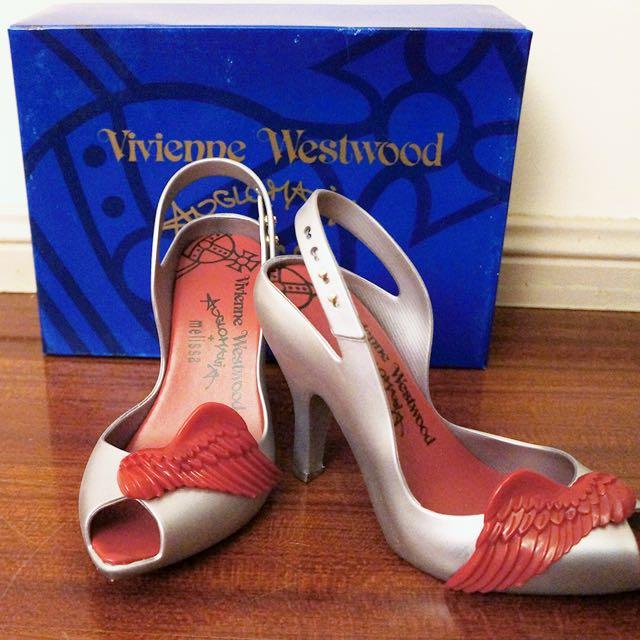 Vivienne Westwood Melissa Lady Dragon Wings in Silver