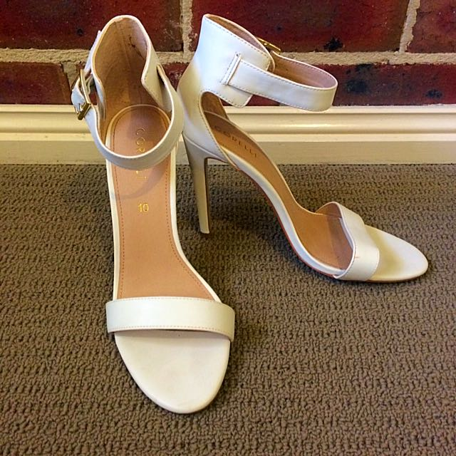 White Heels, Size 10