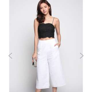 Love Bonito Cyma Embroidered Culottes