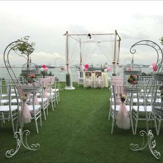 FOR RENT: Aisle Stand with Birdcage and Flowers