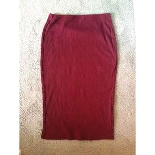 Old Navy Burgundy Skirt