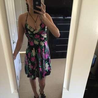 Black Flower Dress