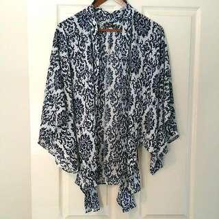 Boho Style Wrap Kimono