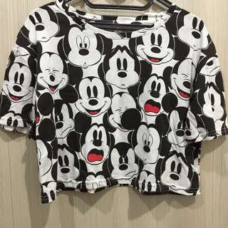 cotton on mickey mouse crop top
