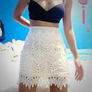 F21 Crochet Skirt - Size Small