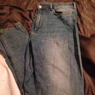 H&M High waisted Skinny Jeans 30x 34