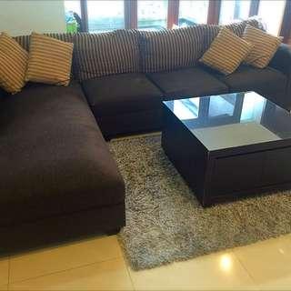 L Shape - 3 Seats Sofa