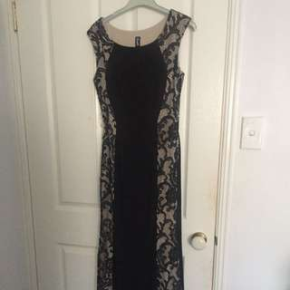 Black And Lace Formal Dress