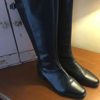 City Chic Leather Knee High Boots