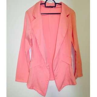 Ladies outerwear / cardigan in Peach