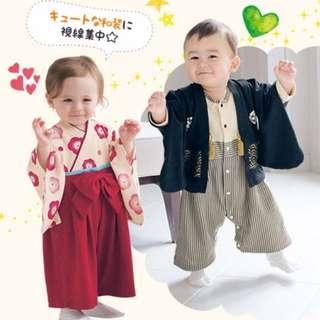 【預購】寶寶/兒童*日式和服/櫻花和服 連身套裝