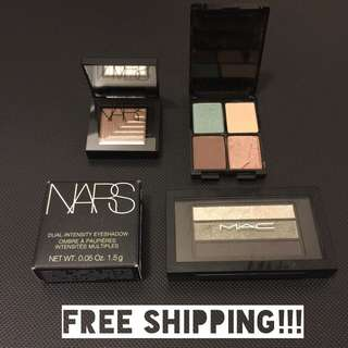 NARS, MAC & Lancome Eyeshadows