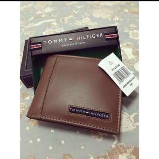 TommyHilfiger 劍橋褐色皮夾