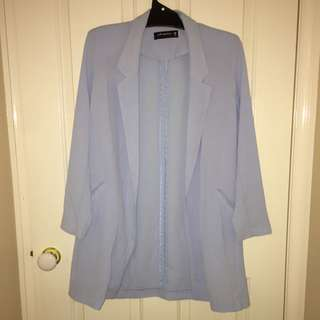 Light Blue Long Coat - Size 10