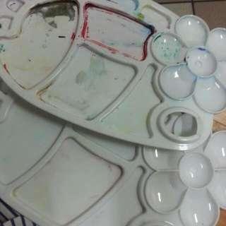 調色盤及水盒