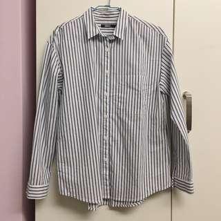 SPAO藍色條紋白襯衫